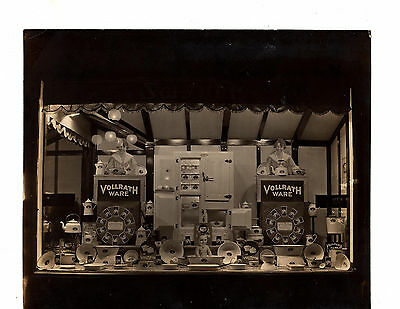 Antique Photograph Photo Vollrath Ware Cookware Store Window Display Advertising