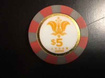 $5 Casino Chip Sunshine Live - Saipan