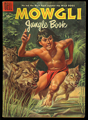Four Color #620 (Mowgli Jungle Book) Nice Golden Age Dell Comic 1955 VG-