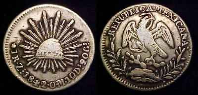 MEXICO 1842 Zs OM 1 Real F