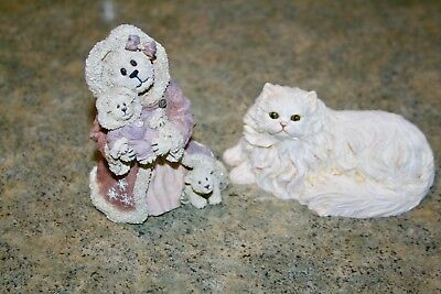 Boyd's Bear & Friends-The Bearstone Collection-The Last Snowflake Of Winter-Cat