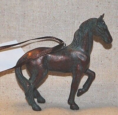 """Resin Horse Ornament  - approx.  3-1/2"""" wide x 3-1/4"""" high"""