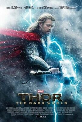 THOR: THE DARK WORLD great orig 27x40 D/S movie poster LAST ONE (th32)