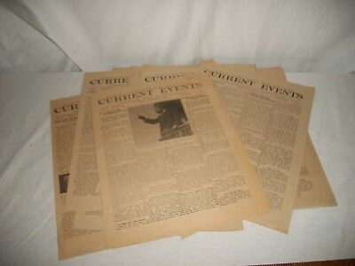 Lot of 14 CURRENT EVENTS Newspaper For Schools - Political History 1910 / 1911