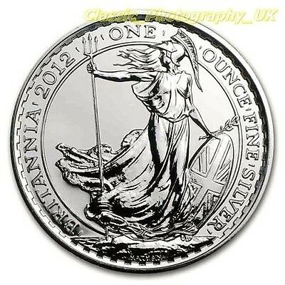 One / 1 Ounce Fine Silver .999 Pure 1Oz Silver Britannia 2012 Coin UNCIRCULATED!