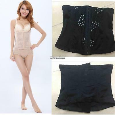 Donna Lace Patchwork Front Buckle Bustier Corsetto elastico in vita Body DL0