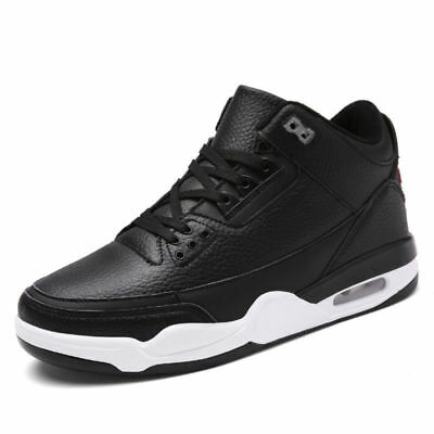 AU Mens High Top Basketball Shoes Breathable Athletic Training Sneakers Big Size