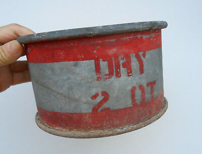 Old Antique Galvanized 2 Quart QT Dry Measure for Farm, Feed Mill