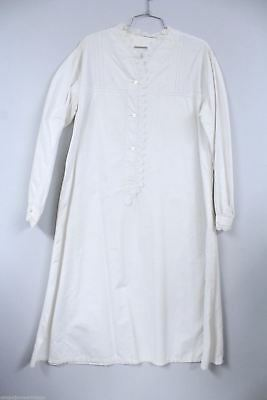Antique Victorian Nightgown White Work Whitework Embroidered 42 Chest Peg Hanger