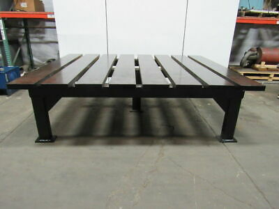 "2-1/2"" Thick Heavy Duty Steel Welding Layout Work Table Bench 116-1/2x95x33-1/2"""
