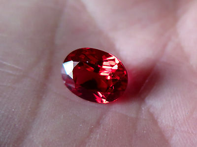 "RUBIS D'OR VERNEUIL ""GOLDEN RUBY"" ovale  12x14 MM et 10 cts..IF"
