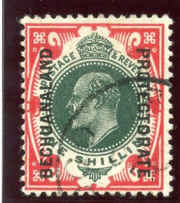 Bechuanaland 1912 KGV 1s green & scarlet very fine used. SG 70. Sc 79.