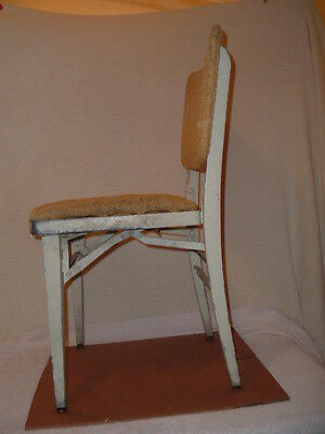 Vintage Industrial Aluminum Folding Chair Machine Age Louis Rastetter