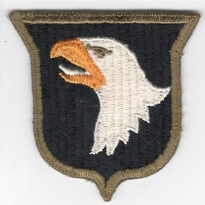 Rare WW 2 101st Division OD Border Ribbed Weave Patch Inv# Z422