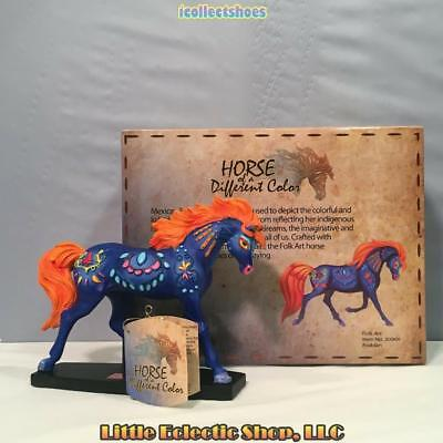 20369 Arabian FOLK ART #294 Resin Horse of a Different Color Figurine