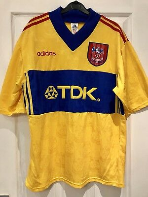 Crystal Palace 1996-1998 - Yellow Away Shirt (L) - Large Tdk Lombardo e212aa36a