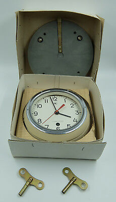 New!!! Ussr Russian Soviet Submarine Navy Marine Ship Wall Clock 2-90 1976
