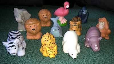 Fisher Price Little People Zootalkers Interactive 12 Animal Lot Lion Bear Seal