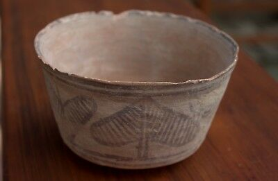 500 BC Artifact Painted Plant Pottery Pot Bowl Artifact From Time Of Moses!