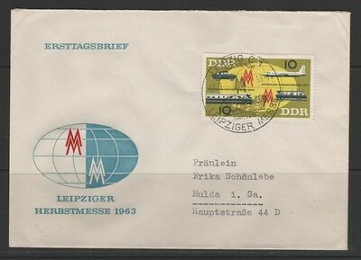 "1963 ""Leipziger Herbstmesse"" 976-77, Brief mit Messestempel 7.9.63"