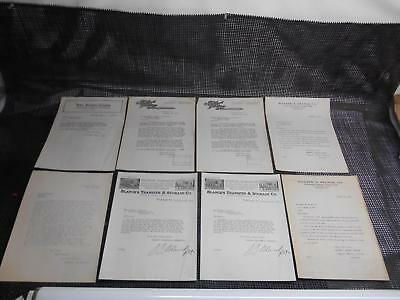 Antique 1916-17 REPUBLIC MOTOR TRUCK Co. Typed Letters of Recommendation Paper