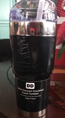 DUNKIN' DONUTS Brute Tumbler 24 oz stainless steel, vacuum insulated, black- NEW