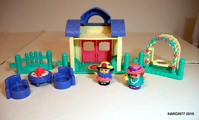 FISHER PRICE Little People PLAYTIME PALS TEA PARTY Excellent Condition