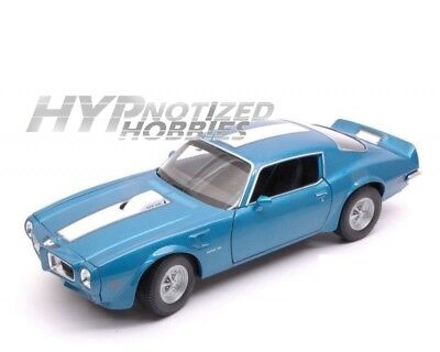 Welly 1:24 1972 Pontiac Firebid Trans Am Die-Cast Blue 28075 N/b