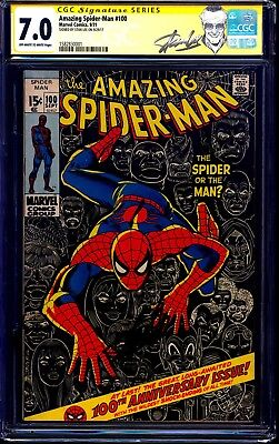 Amazing Spider-Man #100 CGC SS 7.0 signed by STAN LEE CUSTOM LABEL 1971