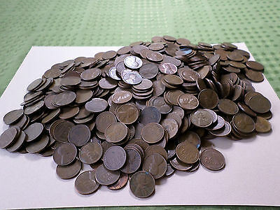5 POUNDS OF LINCOLN WHEAT CENTS/PENNIES  (725) approx.
