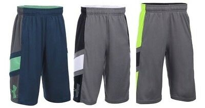 Lot 3 Pair Size LARGE YLG Under Armour Shorts Give and Go 1291615 Boys New $90