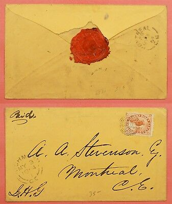 5C Beaver On Canada 1864 Cover Richmond Ce Cancel To Montreal