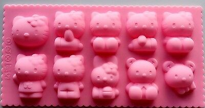 aus seller...HELLO KITTY  CHOCOLATE/SOAP  SILICONE MOULD new