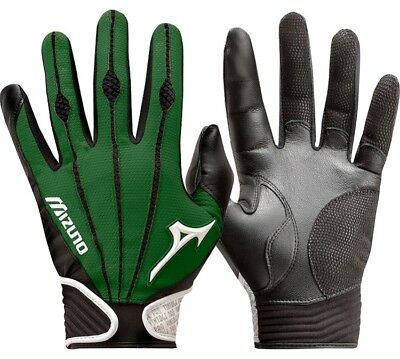1 Pair Mizuno 330286 Vintage Pro X-Large Forest Green Adult Batting Gloves New!