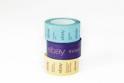 Official eBay Branded BOPP Packaging Tape 3-Pack Color Lot Shipping Supplies