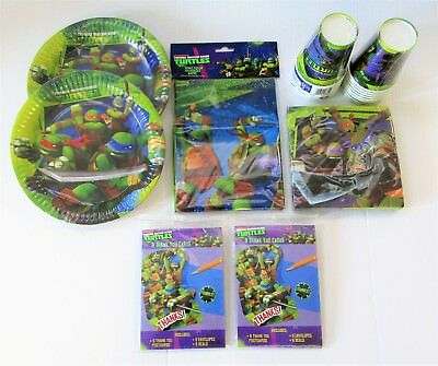 Teenage Mutant Ninja Turtles Party Pack for 16 People - TMNT Plates Napkins etc