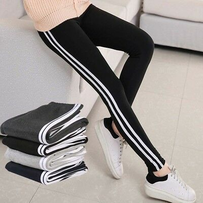 Femmes rayées Yoga Leggings Fitness Gym Stretch Pantalons de sport Pantalons