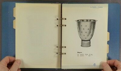 1958 Swedish Sterling Silver Trade Catalog - Tenn & Silver (TESI) @ Goteborg