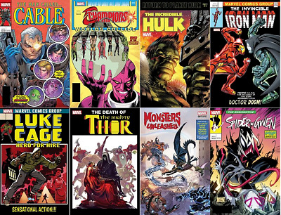 Marvel 3D Lenticular Homage Covers Week 3  Set Of 8 Variant Comics