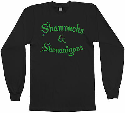 Shamrocks & Shenanigans Men's Long Sleeve T-Shirt Irish St Patricks Day