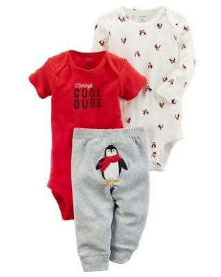 Carters Baby Boy's 3-Piece Little Character PENGUIN Set CHECK FOR SIZE