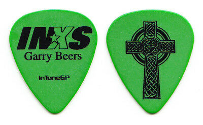 INXS Garry Beers Signature Green Celtic Cross Guitar Pick - 2006 Switch Tour