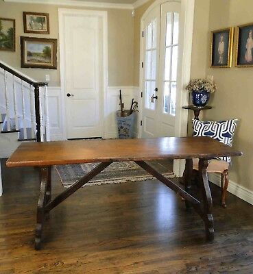 Antique French Country Farm Dining Table ~ Rustic Authentic Provence  c1800's