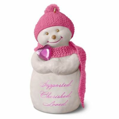 Hallmark 2016 Wrapped in Love Snowman Susan G. Komen Christmas Ornament