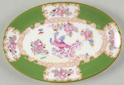 Minton COCKATRICE GREEN (WREATH BACKSTAMP) Pickle Dish 3897634