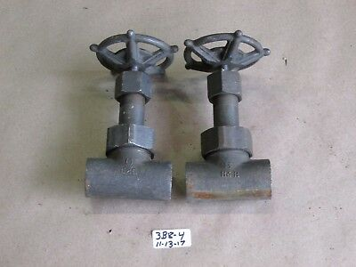 """+Lot Of 2 New Vogt 1/2"""" 800 Threaded Gate Valve 59851 A105"""
