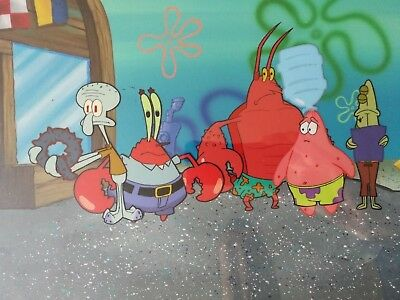 Nickelodeon TV SpongeBob Original Animation Art Master Background Cel Set Up #21