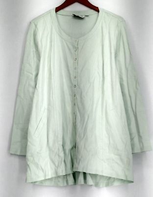 Linea by Louis Dell'Olio Top Sz XL Scoop Neck Mint Green