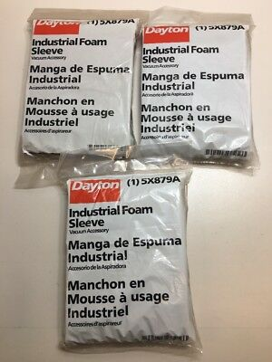Lot Of 3 Dayton 5X879A Foam Filters *new In Factory Bag* ~Free Shipping