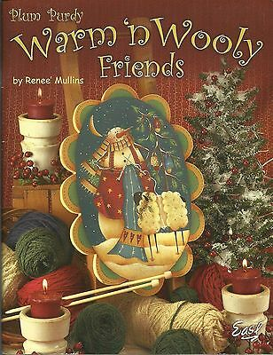 Plum Purdy Warm and Wooly Friends Renee Mullins Decorative Painting Book